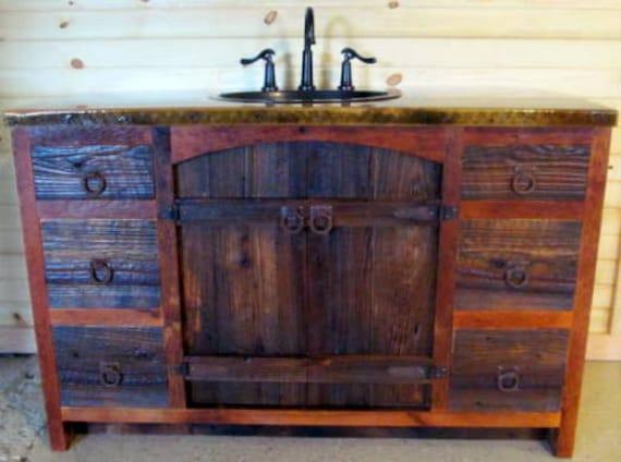 Arched Barnwood Vanity Rustic Vanity Reclaimed Wood Vanity