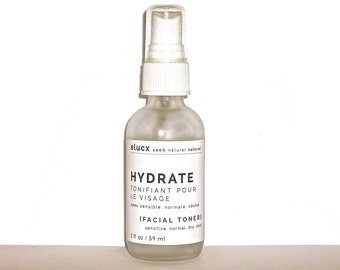 Face Toner {HYDRATE}. Sensitive Normal Dry Skin. Organic Skin Care.  Natural Handcrafted