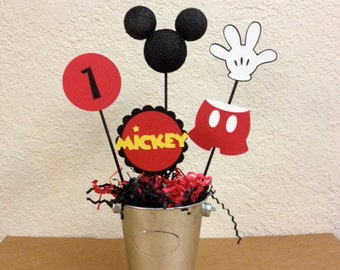 Mickey Mouse Birthday Centerpieces (Set of 4) - or Baby Shower