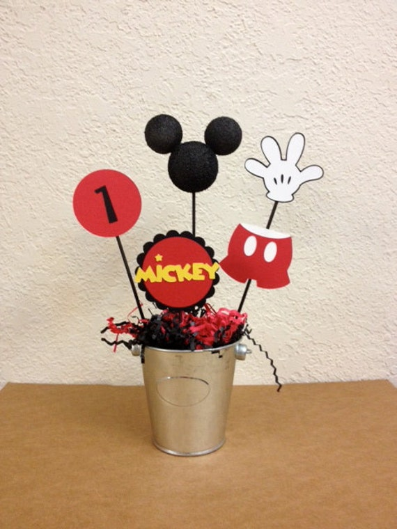 Mickey Mouse Birthday Centerpieces Set of 4 or Baby Shower