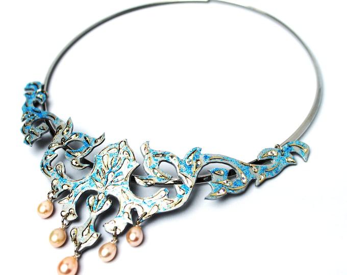 "Necklace ""Baroque Vines - Gabriele"" necklace pendant Choker Baroque necklace Choker"