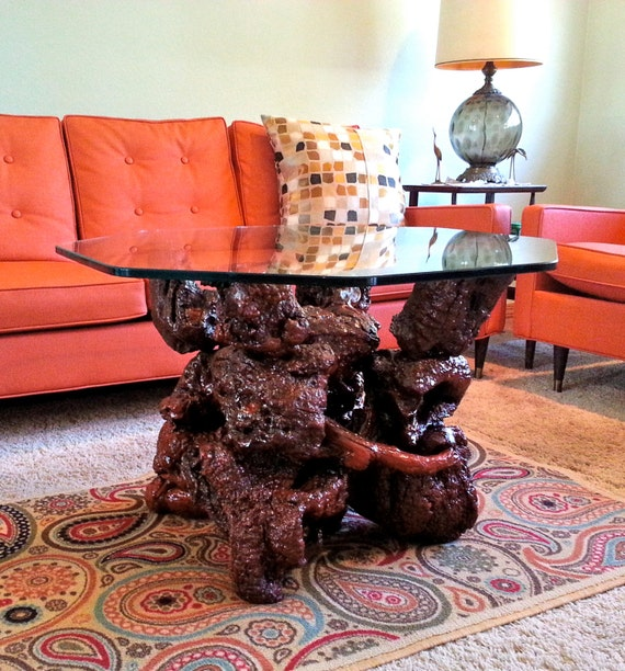 Vintage Manzanita Root Burl Wood Table
