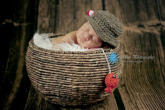 Items Similar To Crochet Newborn Baby Fisherman Pattern