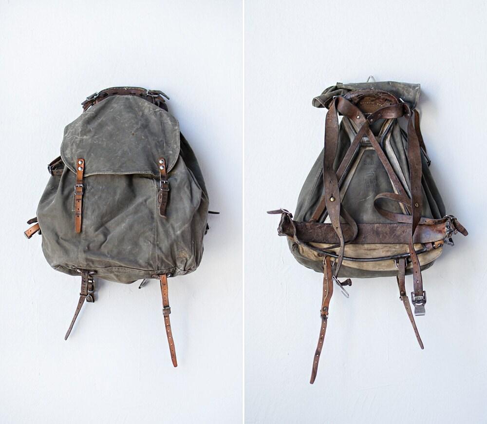 reserved for heidi vintage swedish military backpack. Black Bedroom Furniture Sets. Home Design Ideas