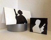 Han and Leia/ His and Her Sleek Wallet Set