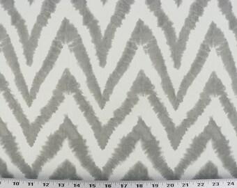 Upholstery Fabric Drapery Fabric Gray Chevron Fabric Duvet Cover Fabric Ikat