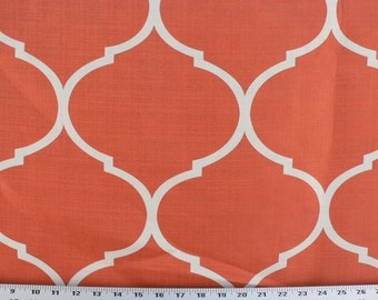 Upholstery Fabric, Drapery Fabric, Pillow Fabric, DuvetCover Fabric, Bedding Fabric, Orange/Tangelo/Ivory Fabric, Designer Home Decor Fabric