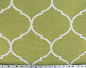drapery fabric upholstery fabric slipcover fabric duvet cover fabric kiwi green fabric greenivory fabric designer home - Home Decor Fabric