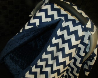 Carseat Canopy car seat canopy car seat cover infant car seat Minky Chevron Blanket Cover