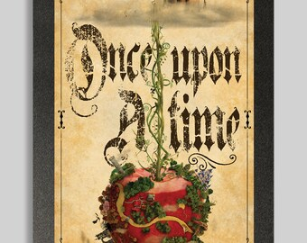 Antique Fairy Tale Once upon a time Poster 16x24