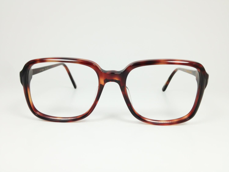 Vintage 1970s Tortoiseshell Squared Plastic Eyeglass Frame