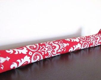 Red Damask Door Snake. Red Door Draft Stopper. Door Snake  sc 1 st  Etsy & Door Draft Stopper.Decorative Door Draft Stopper.Green Draft