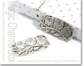5pcs 20x37mm  Antique Silver Tone Owls on the branch bracelet Links Connector Charms Pendant C812