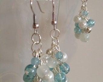 Handmade earrings and matching pendant