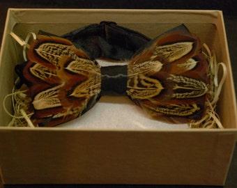 Feather bow tie: The Razzmatazz Pheasant