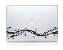 Mac Decals Mac Book Decal Mac Book Sticker Decals Laptop decals iPad sticker by DecalIsland - Cool Lines with Music Notes Sticker Decal