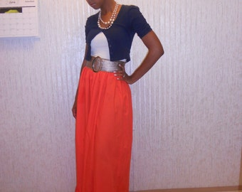 Two in One Maxi Skirt/Dress-Custom Made