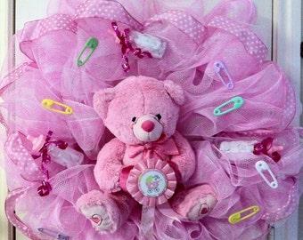 Deco Mesh Baby Girl Wreath