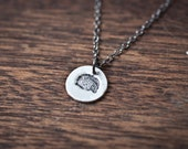 Hedgehog Necklace - Hedgehog Pendant, Hedgehog Charm -  Animal Pendant Necklace, Everyday Necklace, Gift Necklace, Minimalist Jewelry, Gift