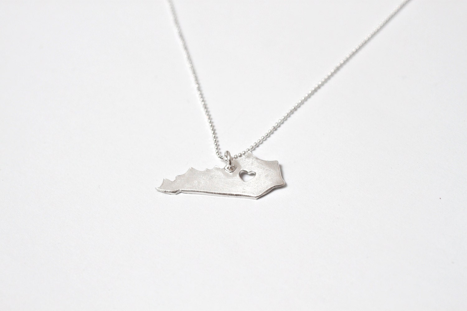 i kentucky necklace silver kentucky state necklace