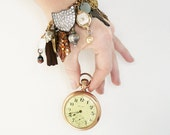 ON SALE NOW - Heirloom Trinkets Charm Bracelet - recycled vintage materials