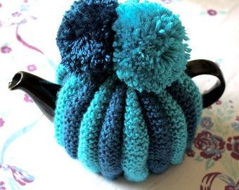 Tea Pot Cosy Cozy Fluted Vintage Style Knitting Pattern Instant Download PDF