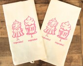 Cupcakes set of two Tea Towel set