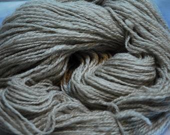 Handspun Shetland and Silk Yarn    Oatmeal Tweed  344 Yards - PS9