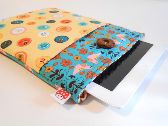 iPad Case, iPad Cover,  iPad Sleeve fits 1 2 3, with front pocket. Also fits Netbooks and Tablets- Love Birds