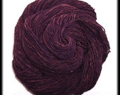 Wool-Camel Blend Sock Yarn-Hand Plied and Dyed-Aubergine-180 yds - 1.5 oz - 164 m - 42 g