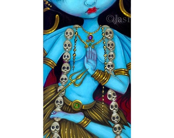 Kali hindu india goddess fairy art print by Jasmine Becket-Griffith BIG 4.5x18.5