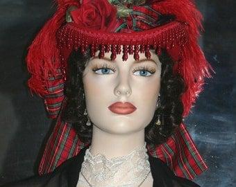 Victorian Riding Hat Sidesaddle Hat SASS Hat - Spirit of Cincinnati