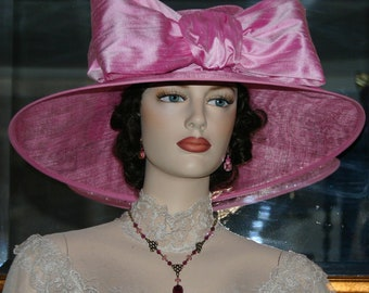 Kentucky Oaks Derby Hat Ascot Hat Pink Tea Hat - Titanic Rose