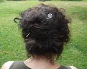 Simple Spiral Wavy Hair Stick, Shawl Pin, Shawl Stick, Hair Accessories, Bun Holder, Light Weight Aluminum Metal, Women Hair Toy, Hair Sword