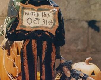 Primitive Halloween Pattern PDF  EPattern Black Cat Witch Doll Dolls Folk Art Folkart Hickety Pickety 028