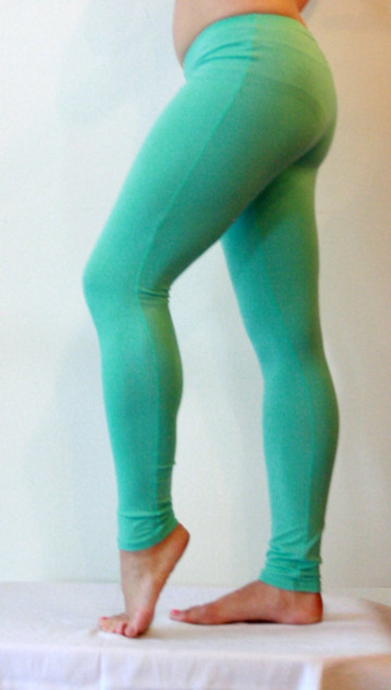 Bamboo Leggings, Seafoam