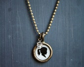 custom silhouette necklace . one pendant . small size