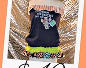 Womens Tube Tunic M Medium I'll Charm Your Socks Off  Candy Trick or Treat