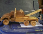 Wooden Tow Truck with Free Car