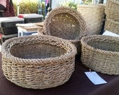 FRUIT BASKET - Large Twined in Seagrass