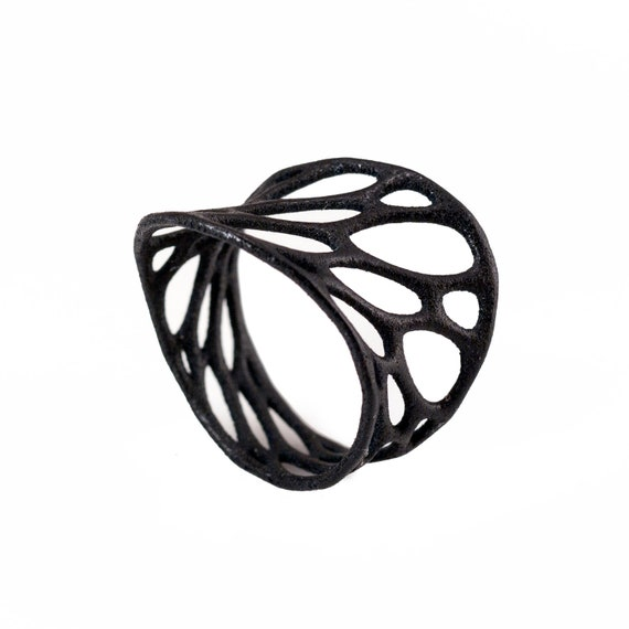1-layer twist ring (3D printed nylon)