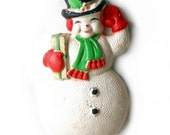 Snowman Christmas Decoration, Styrofoam Wall Hanging