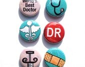Doctor magnets - Doctor pins - 1 inch medical magnet set, medical pin set, doctor gift, medical student, medical school graduation