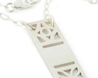 Midcentury Cinder Block Necklace, Atomic Floral