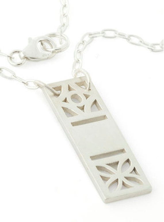 Midcentury Cinder Block Necklace, Atomic Floral