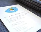 Little Boat Wedding Invitations Sample - Blue Lake, Little Boat and a Couple - Recycled Paper