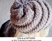 Instant Download Knitting Pattern PDF - Knitting Pattern PDF for Swirl Beanie Hat With and Without Visor - Womens Accessories