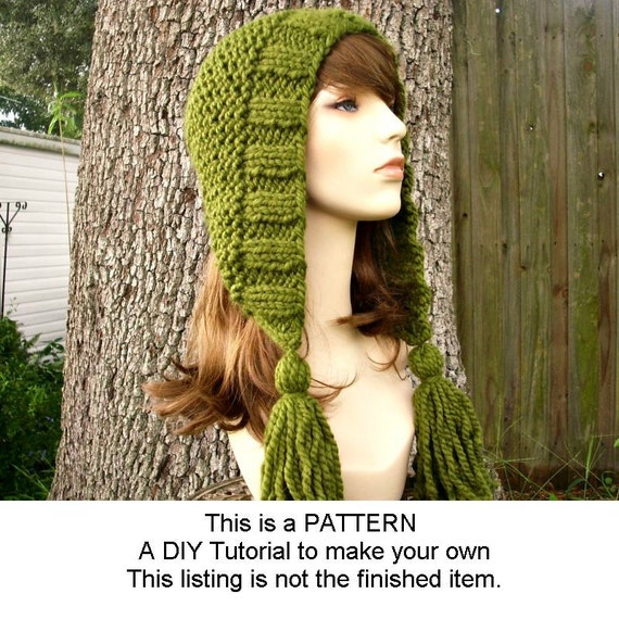 c92b26b510c instant download knitting pattern knit hat for tassel womens accessories.  ETSY