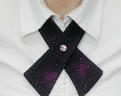 Womens Neck Tie - Galaxy - Magenta