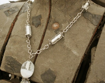 Lampwork Beads and Sterling Chain Necklace